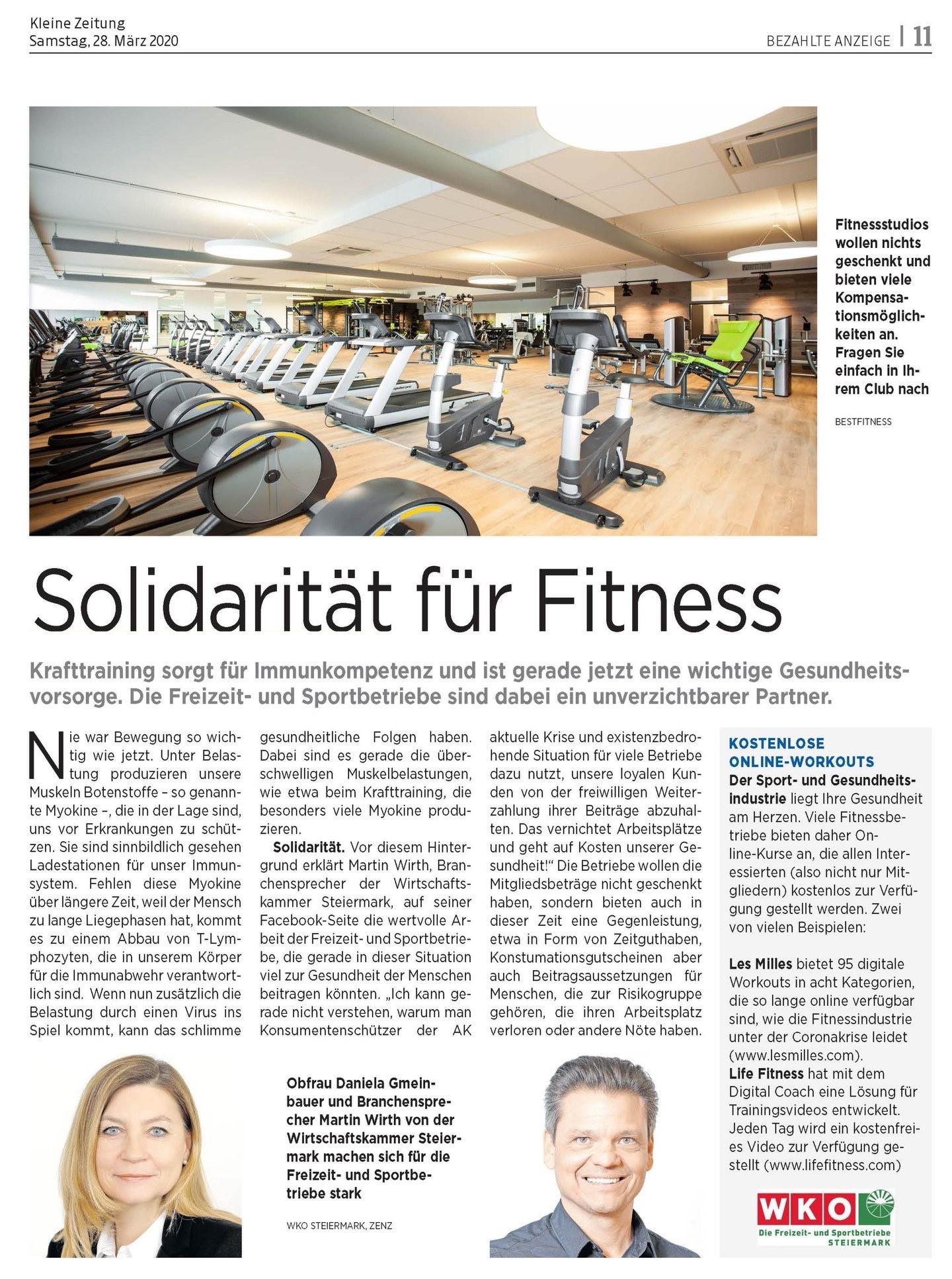 Solidarität für Fitness